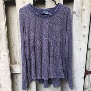 Anthropologie Left of Center periwinkle top L